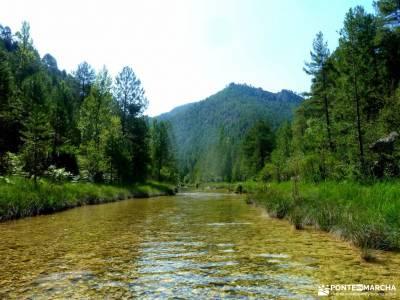 Río Escabas-Serranía Cuenca; cascadas naturales excursiones en almeria viajes puente inmaculada